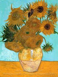 vincent van gogh sunflowers 12 in a vase oil painting reion