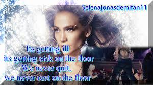jennifer lopez ft pitbull on the floor karaoke instrumental s on screen