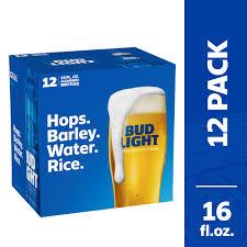 Bud Light Aluminum Bottles 20 Pack Price Bud Light Beer 12 Pack Beer 16 Fl Oz Bottles Walmart Com
