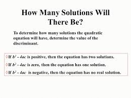 how many solutions will there be