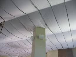 unfinished basement fabric ceiling ideas inspirations panels home popular90 basement