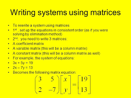 4 8 using matrices to solve systems 2 writing
