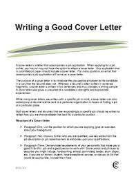 Good Cover Letter Template 7 Writing A Sample