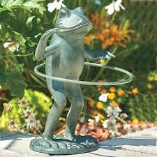 frog statue for garden add some whimsy to your patio or flowerbed with our hula hoop frog statue for garden