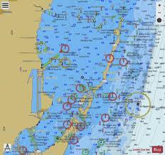 Florida Depth Chart 2009 Maimi To Marathon And Florida Bay Ext 1 Marine Chart