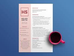 Cv Design Template Free Pink Resume Template With Elegant Design By Steven Han