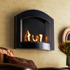 sei black arch top wall mount gel fuel for awesome gel fuel fireplace insert