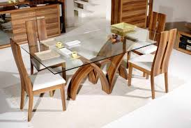 Dining Room, Beauteous Rectangular Glass Top Dining Room Tables Modern  Dining Set Adeline Made From Wood In Elegant Interior Decorating  Inspirations: ...