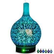 <b>Creative</b> 3D Led Night Light Glass Essential Oil Aroma Diffuser Air ...
