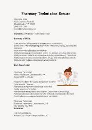 Pharmacy Technician Resume Pharmacy Tech Resume Sample Therpgmovie 67