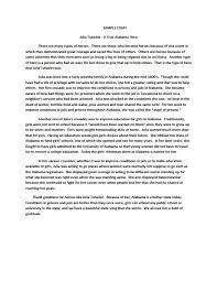 narrative essay thesis examples