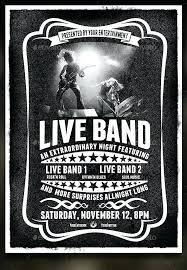 Concert Flyer Templates Free Music Concert Flyer Template Free Band Poster Templates Word