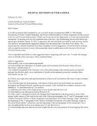 Journal Revision Letter Sample