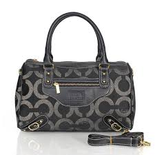Coach Logo In Monogram Medium Black Luggage Bags CEE