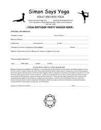 Liability Waiver Form Template Free Yoga Liability Waiver Template Free Form Medium To Large