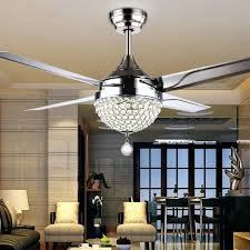 ceiling fans crystal chandelier fan light kit with regard to for inspirations 10