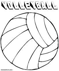 Volleyball Color Pages Volleyball Coloring Pages Courtoisieng Com