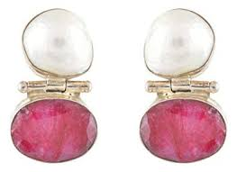Buy BIA Jewels, A stunning pair of earrings with 2 large <b>natural</b> ...