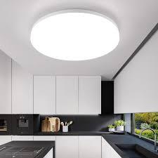 Cheap Led Kitchen Lights Nordic Modern Designer Round White Led Ceiling Light Fixtures Lamp For Living Room Loft Decor Kitchen Dining Room Bedroom