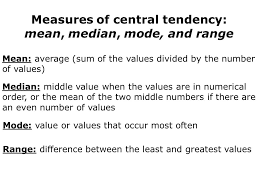 Measures Of Central Tendency And Range - Lessons - Tes Teach