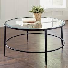 black minimalist glass round coffee table designs ideas as living