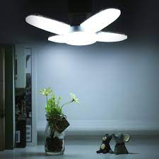 Bóng Đèn LED 4 Cánh Quạt Đáy Phát Sáng BX-60 Siêu Sáng - Siêu Tiết Kiệm
