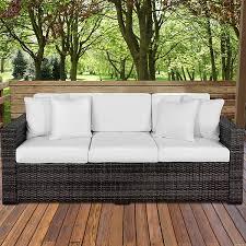 outdoor wicker patio furniture 3 seater sofa best outdoor patio sofas