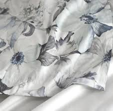 bedding annie mono gray flowers duvet