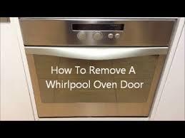 how to remove a whirlpool oven door