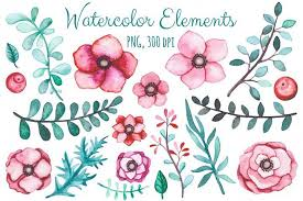 Pink floral svg, rose flower svg dxf files, summer flowers clipart svg dxf, summer vector file clipart, watercolor flowers svg. Free Flowers And Borders Set Topfreedesigns