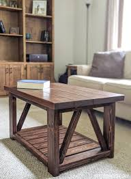 coffee table with bottom shelf plans