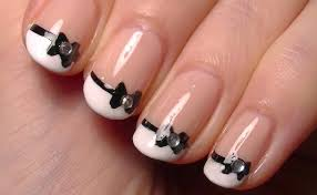 43 Simple Bow Nail Art Designs, Ideas, Pictures & Photos | Picsmine