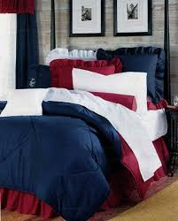 patriotic red white blue bed in a bag set california king size