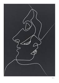 abstract drawing available for purchase close noir black and white minimalist