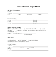 Pet Information Template Pet Medical Record Template