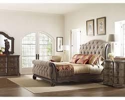 Sleigh Bed Bedroom Furniture Casa Veneto Upholstered Sleigh Bed Beds Bedroom Thomasville