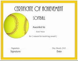Free Softball Certificates To Print Awesome Baseball