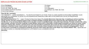sample cover letter job application electrician sample electrical technician cover letter
