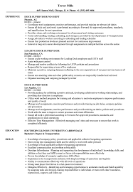 Supervisor Resume Sample Dock Supervisor Resume Samples Velvet Jobs 38