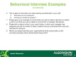 Examples Of Behavioral Interview Questions Tips For Successful Job Interviewing Interview Questions