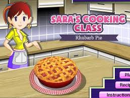 saras cooking cl game rhubarb pie recipe
