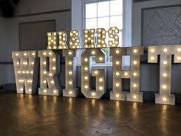 Giant Light Up Letters Mr Mrs Wright In Light Up Letters In 2019 Light Up