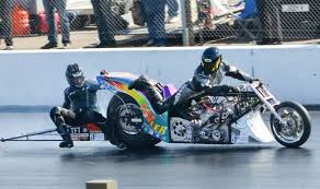 drag racing motorcyclist makes death defying escape 200mph leaping