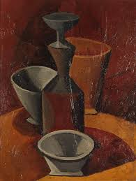 pablo picasso 1908 bols et flacons pitcher and bowls oil on canvas 66 x 50 5 cm hermitage museum saint petersburg russia