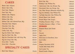 Royal Bakery Menu Menu For Royal Bakery Wellawatta Colombo 06