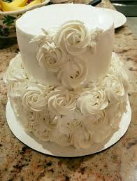 Rosette Tiered Cake Baskin Robbins