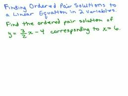 graphing 3 finding ordered pair solutions to equations help in high school math algebra free math help s by mathvids com