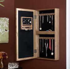 Diy Jewelry Cabinet Furniture Oak Wood Wall Mounte Jewelry Armoire Decorative Wall