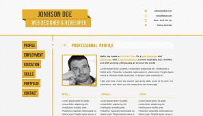Website Resume Template
