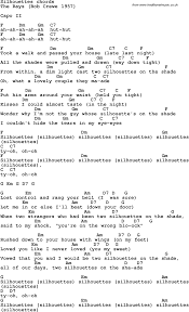 song lyrics guitar chords for silhouettes song lyrics guitar chords for silhouettes